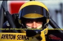 AYRTON SENNA  photo is FF2000 Van Diemen cockpit photo 1982